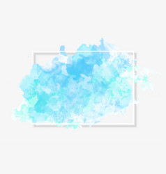 watercolour background with white frame and drop vector image