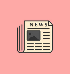 wenewspaper icon flat design vector image