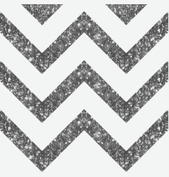 Wide glittery zigzag peak in silver shade vector