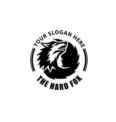 Wolf and axe logo designs simple modern retro vector