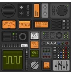 Control Panel UI User Interface HUD Set vector image vector image