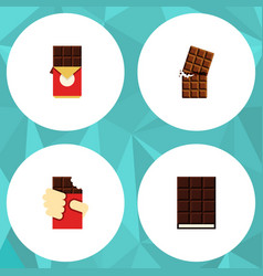 Flat icon chocolate set of wrapper dessert vector