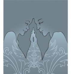 love night vector image