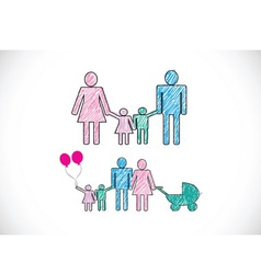 People Family icon Pictogram People vector image