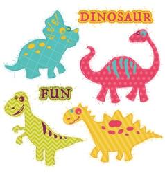 Scrapbook Design Elements - ute Dinosaur Set vector image