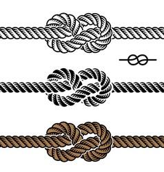 black rope knot symbols vector image vector image
