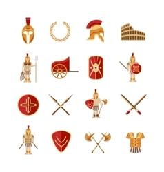 Gladiator Icons Set vector image