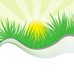 grass wave vector image