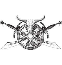 The emblem of the Viking vector image vector image