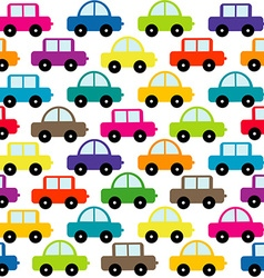 Toy cars background vector image