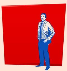 vintage business man vector image