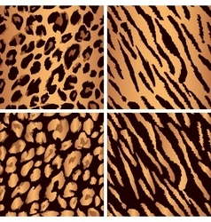 animal skin seamless pattern set Set leopard vector image vector image
