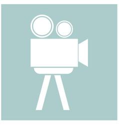 cinematograph the white color icon vector image vector image
