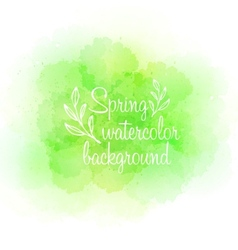 Fresh spring green watercolor background vector image vector image