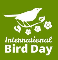 international bird day vector image vector image