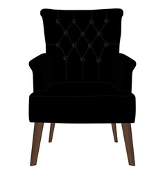 Modern black armchair vector image
