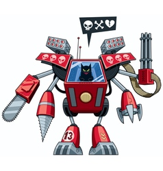 Robo-cat vector image vector image