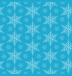 snowflakes on blue background vector image vector image