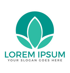 spa lotus wellness salon and business spa logo vector image vector image