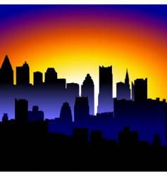 sunrise city vector image