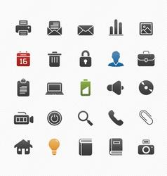 Generic symbol icon set vector