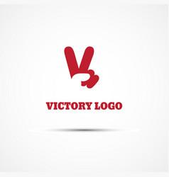 victory logo vector image vector image