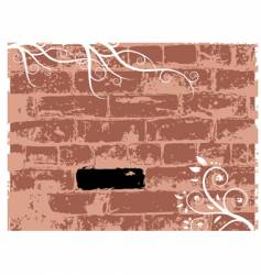 wall brick grunge background vector image vector image