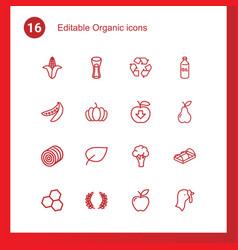16 organic icons vector