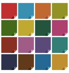 16 retro colored blank square vector