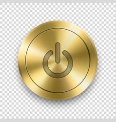3d realistic metallic golden knob design vector image