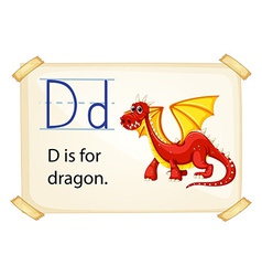 A letter d for dragon vector