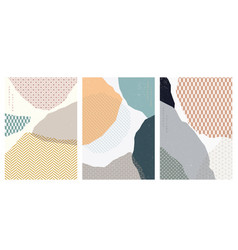 abstract background with geometric pattern vector image