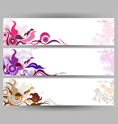 abstract colorful butterfly and flower background vector image