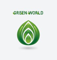 abstract green eco symbol vector image