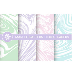 Abstract marble pattern set backgrounds vector