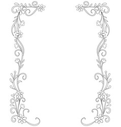 Adult coloring bookpage a cute frame with doodle vector