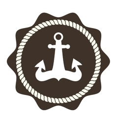 Anchor symbols badge vector image