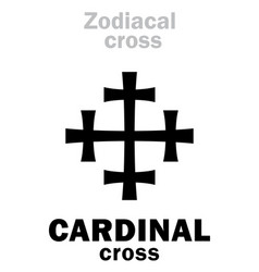 Astrology cardinal cross vector