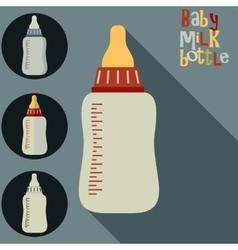 bamilk bottle vector image
