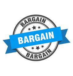 bargain label bargainround band sign stamp vector image
