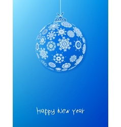 Blue christmas bauble EPS8 vector image