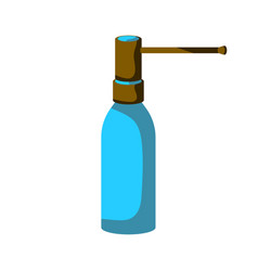 Bottle - spray for the throat on vector