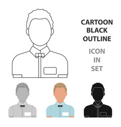 boxing referee icon in cartoon style isolated on vector image