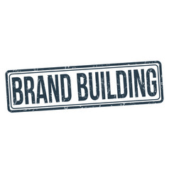 brand building grunge rubber stamp vector image