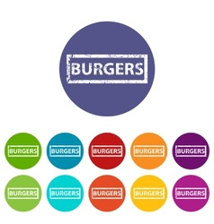 Burgers flat icon vector image