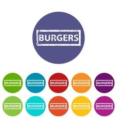 Burgers flat icon vector