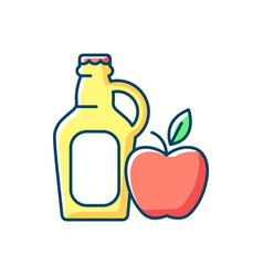 Cider to go rgb color icon vector