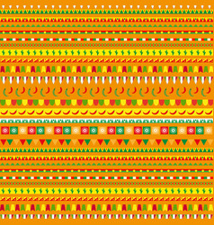cinco de mayo seamless pattern with a traditional vector image vector image