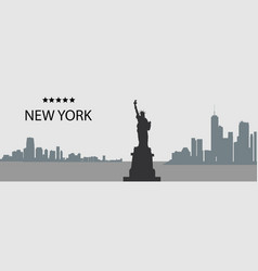 City silhouette- new york vector