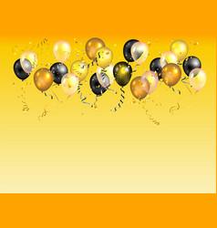 Color holiday balloons card vector